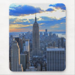 Late afternoon NYC Skyline as sunset approaches Mousepads