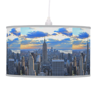 Late afternoon NYC Skyline as sunset approaches Pendant Lamp