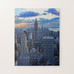 Late afternoon NYC Skyline as sunset approaches Puzzle
