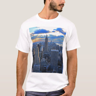 Late afternoon NYC Skyline as sunset approaches T-Shirt