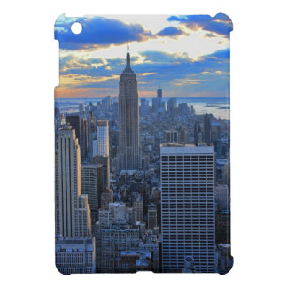 Late afternoon NYC Skyline as sunset approaches V iPad Mini Cases