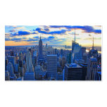 Late afternoon NYC Skyline as sunset approaches W Business Cards