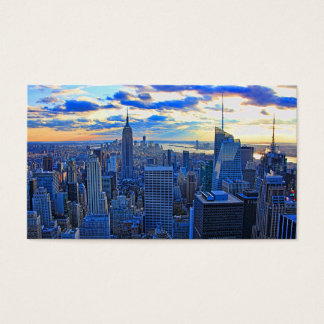 Late afternoon NYC Skyline as sunset approaches W Business Card