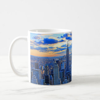 Late afternoon NYC Skyline as sunset approaches W Classic White Coffee Mug
