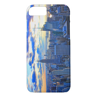 Late afternoon NYC Skyline as sunset approaches W iPhone 7 Case