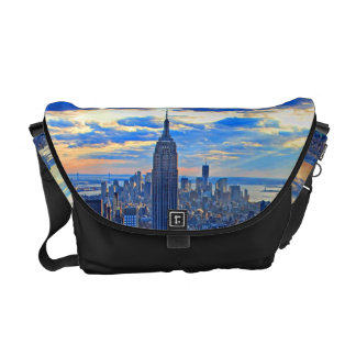 Late afternoon NYC Skyline as sunset approaches W Messenger Bags