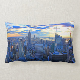 Late afternoon NYC Skyline as sunset approaches W Pillow