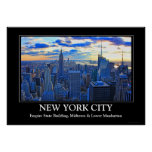 Late afternoon NYC Skyline as sunset approaches W Poster