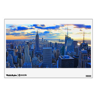Late afternoon NYC Skyline as sunset approaches W Wall Sticker