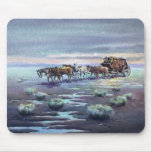 LATE AFTERNOON STAGECOACH by SHARON SHARPE Mouse Pad