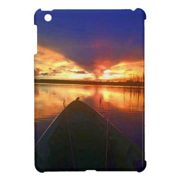 Beach Themed Late Afternoon Sunset Cover For The iPad Mini