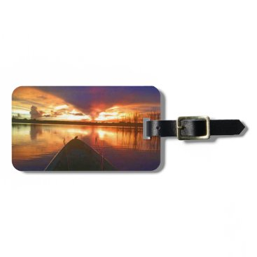 Beach Themed Late Afternoon Sunset Luggage Tag