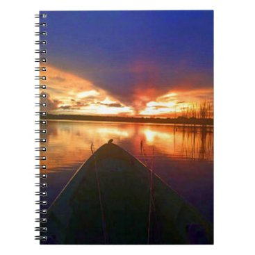 Beach Themed Late Afternoon Sunset Notebook