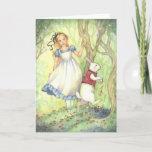 Late - Alice in Wonderland Greeting Card