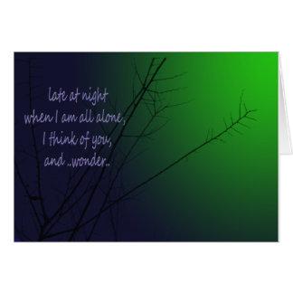 Late at night greeting card