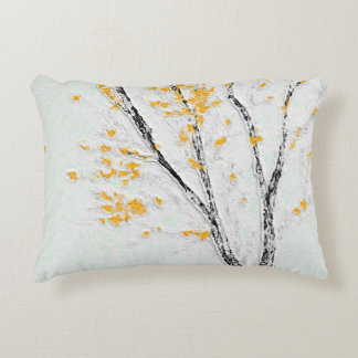 LATE AUTUMN TREE Light Fresh Color Custom Accent Pillow