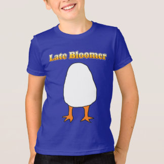 Late Bloomer Egg with legs Child Shirt