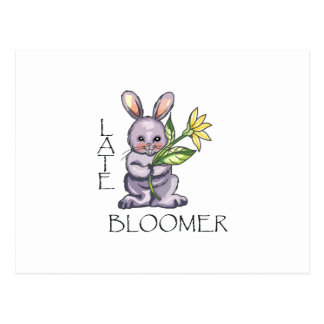 LATE BLOOMER POSTCARD
