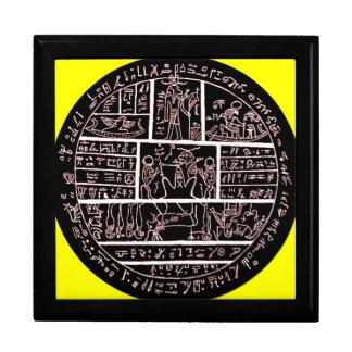 late demotic egyptian amulet jewelry box