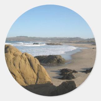 Late Fall at the San Mateo Coast _ California Classic Round Sticker