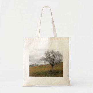 Late Fall - The Barren Hillside Canvas Bag