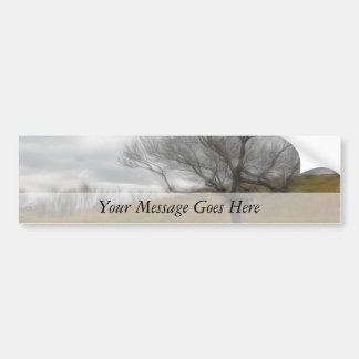 Late Fall - The Barren Hillside Bumper Stickers