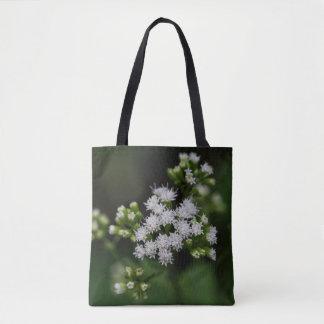 Late-flowering Boneset White Wildflower Tote Bag