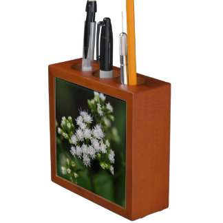 Late-flowering Boneset Wildflower Desk Organizer
