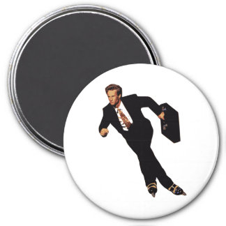 Late For Business Rollerblade Skater Meme 3 Inch Round Magnet