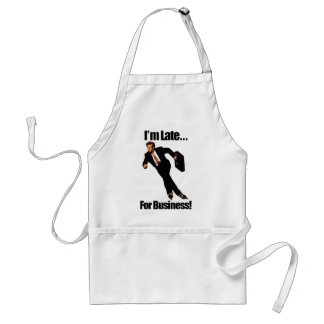 Late For Business Rollerblade Skater Meme Adult Apron