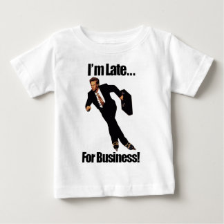 Late For Business Rollerblade Skater Meme Baby T-Shirt