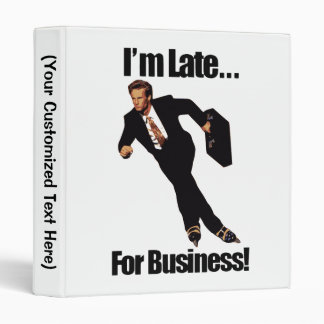 Late For Business Rollerblade Skater Meme Binder