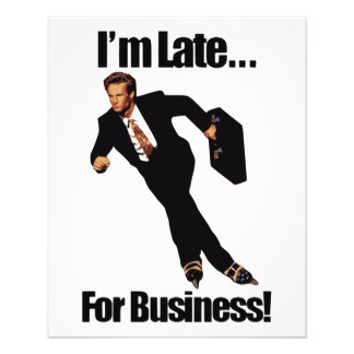 Late For Business Rollerblade Skater Meme Flyer
