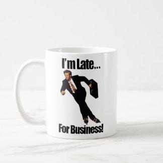 Late For Business Rollerblade Skater Meme Classic White Coffee Mug