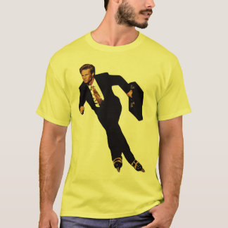 Late For Business Rollerblade Skater Meme T-Shirt