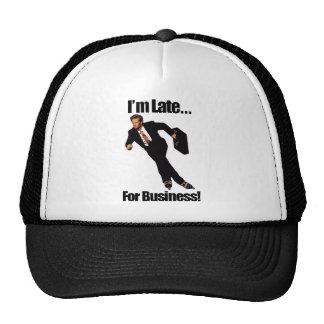 Late For Business Rollerblade Skater Meme Trucker Hat