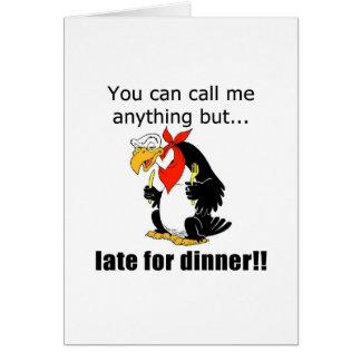 Late for Dinner Card