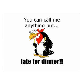 Late for Dinner Postcard
