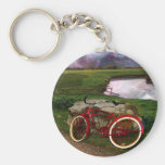 Late for evening prayer- The red bike. Key Chains
