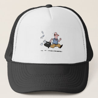 Late for work! trucker hat