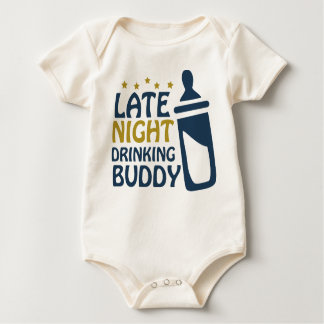 Late Night Drinking Buddy Baby Bodysuit