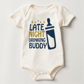 Late Night Drinking Buddy Baby Bodysuit