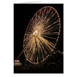 Late Night Ferris Wheel Greeting Card