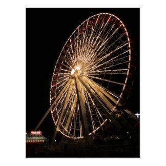 Late Night Ferris Wheel Postcard