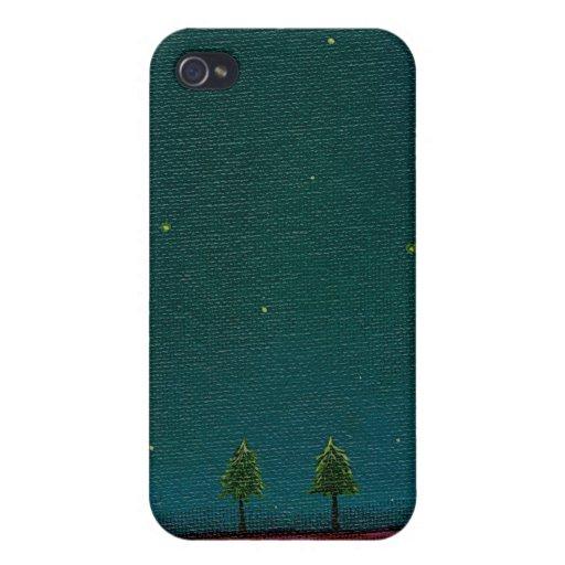 Late Night Meeting dark starry sky nature tree art iPhone 4/4S Cases