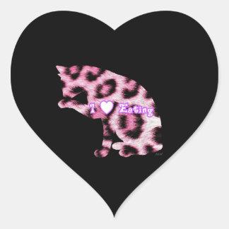 Late Night Snack Heart Sticker