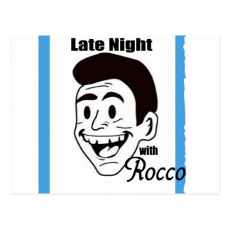 Late Night with Rocco Show Swag Postcard