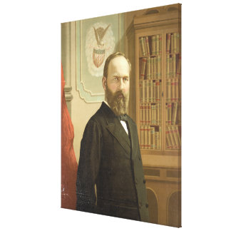 Late President James A. Garfield By G.F. Gilman Canvas Print