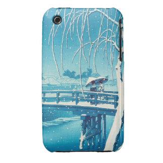 Late Snow Along Edo River hasui kawase winter art Case-Mate iPhone 3 Cases