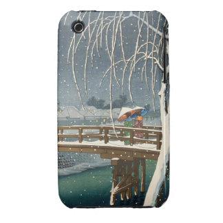 Late Snow Along Edo River hasui kawase winter art iPhone 3 Covers